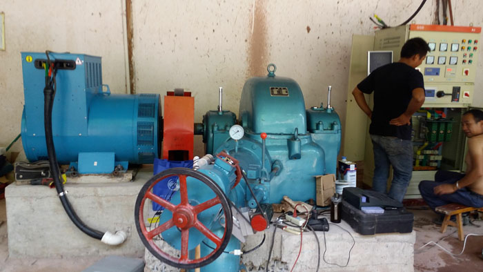 100kw hydro turbine generators installation