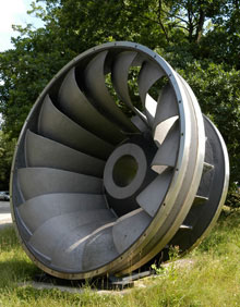 a typical hydro turbine