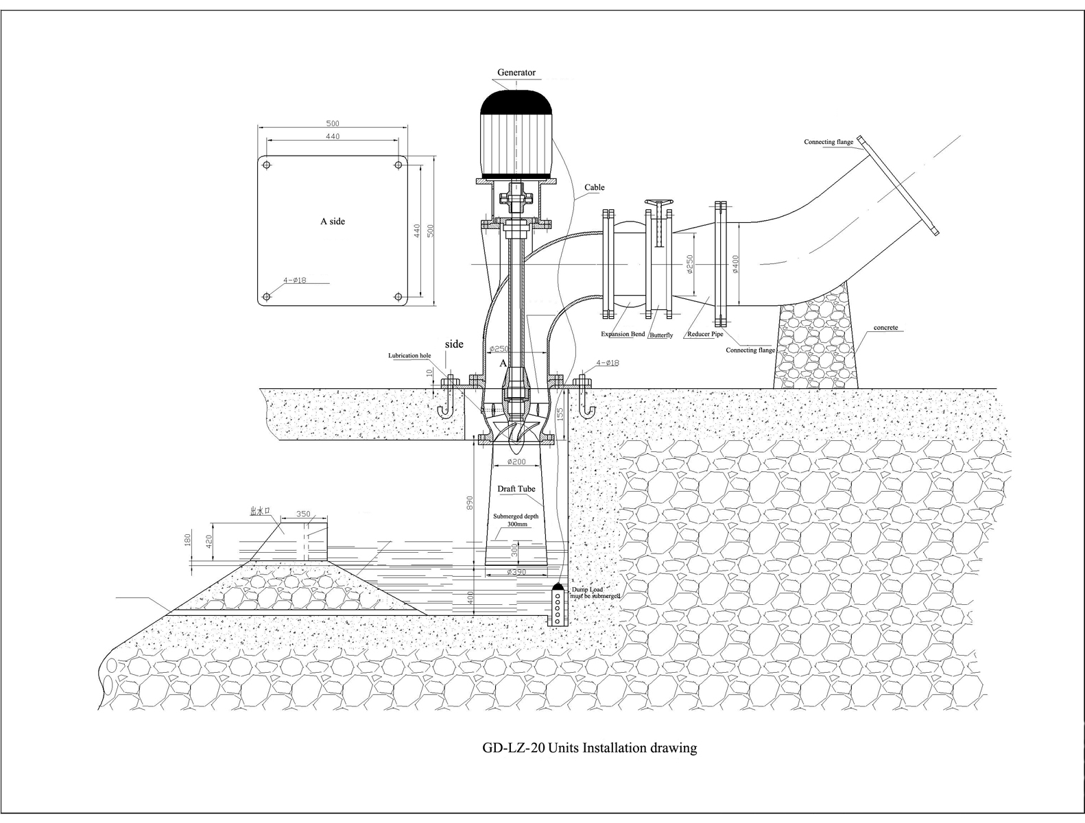 GD-LZ-20-3KW install diagram