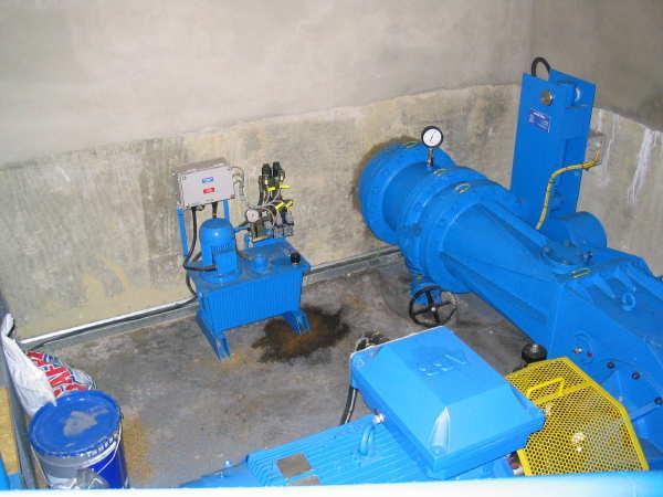 hydro electric system turbine house