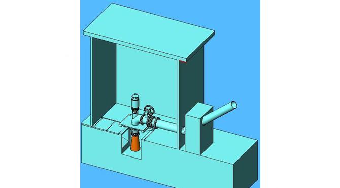 Micro-hydro-turbine-GD-LZ-20-3KW-install-diagram