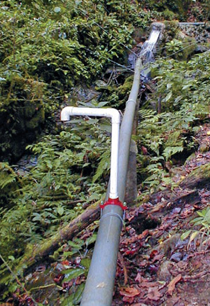 micro hydro pipe drop