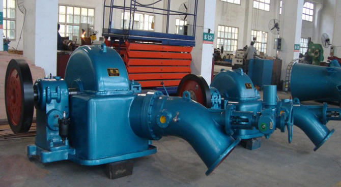Turgo Inclined Jet Hydor Turbine Generators